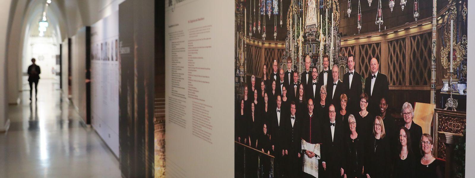 Documents historiques, partitions anciennes, extraits de concerts, panneaux d'explication: tout est mis en œuvre pour faire le portrait de la chorale.