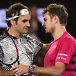 Zwei Gegner und zwei Freunde: Roger Federer (l.) und sein Landsmann Stan Wawrinka.