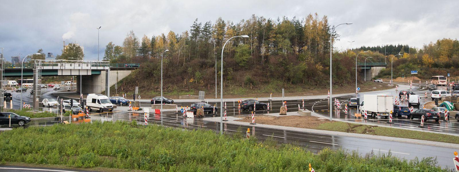 In wenigen Wochen wird die Umgestaltung des Rond-Point Robert Schaffner zum Turbokreisel abgeschlossen.