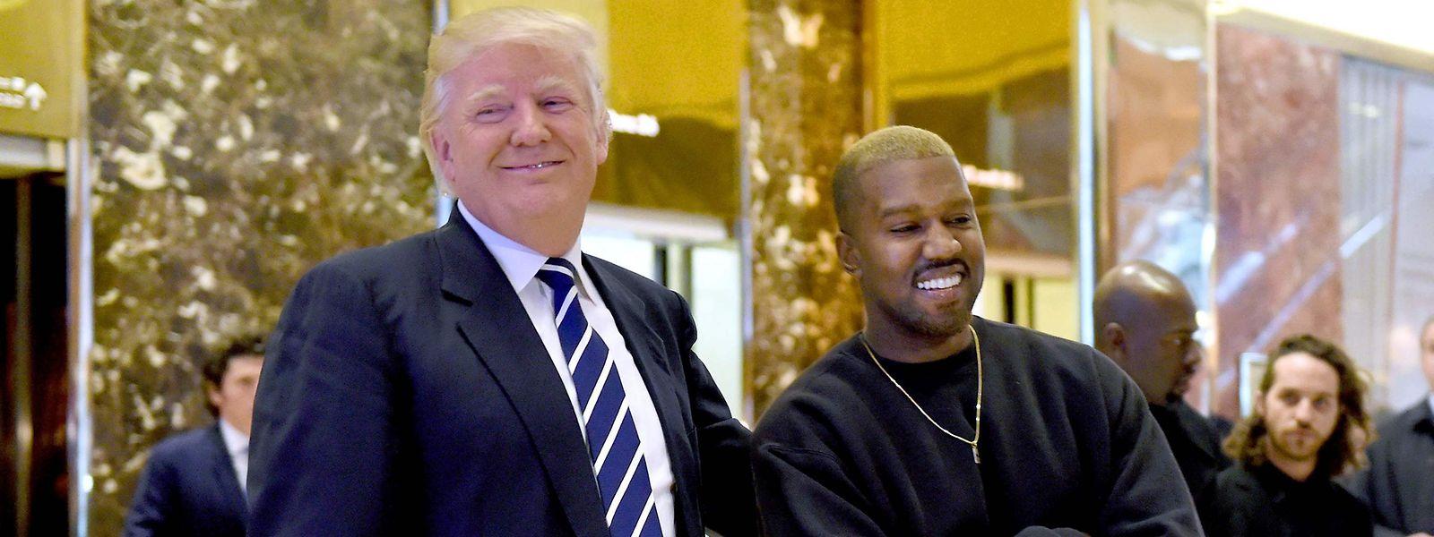Donald Trump und Kanye West im Dezember 2016.