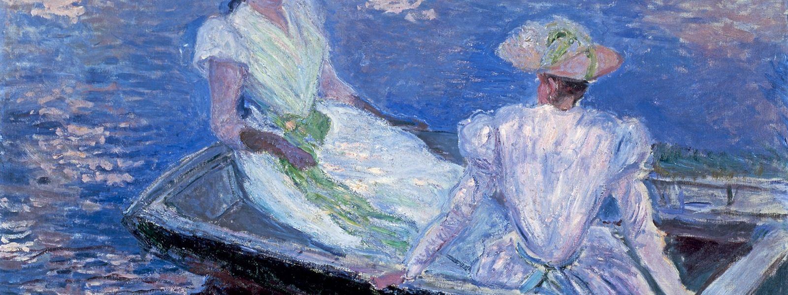 Claude Monet, Im Boot,1887, Öl auf Leinwand