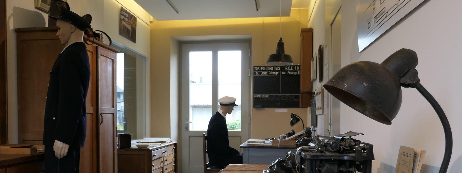 Im Innern des Museums sieht es aus als habe der letzte Bahnvorsteher Pierre Bertemes seinen Posten nie verlassen.