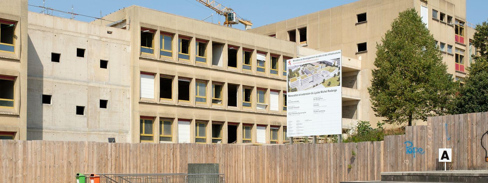 Das Lycée Michel-Rodange wird noch bis 2021 renoviert und ausgebaut.