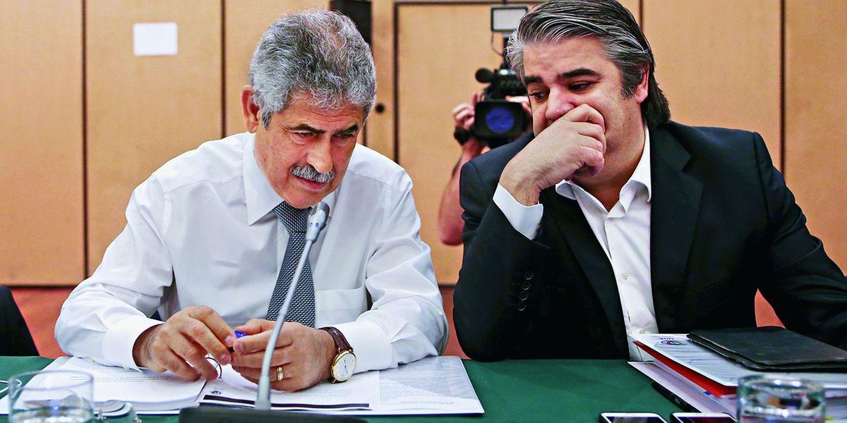 Luís Filipe Vieira e Paulo Gonçalves.