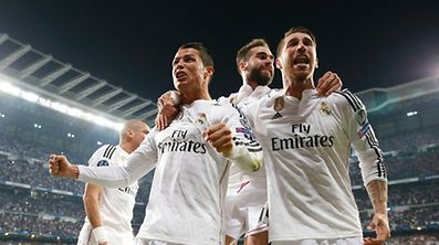 Cristiano Ronaldo (l.) und Sergio Ramos (r.) stehen mit Real Madrid im Halbfinale.