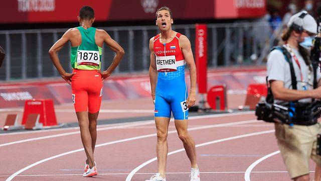 Charles Grethen / 1500m Herren Halbfinale, Leichtathletik, Olympia, The New National Stadium / 05.08.2021 / Olympische Spiele 2020 / Tokio 2020 / Foto: Yann Hellers