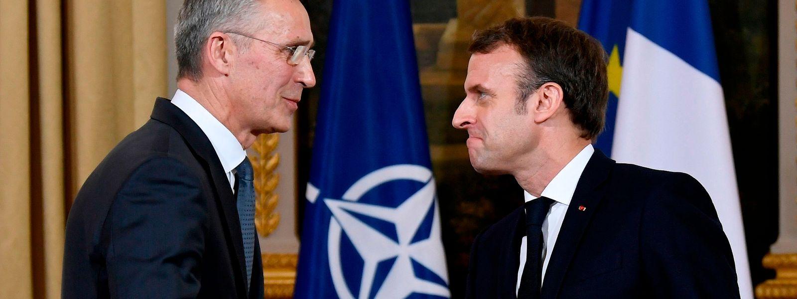 Emmanuel Macron (à dr.) a jugé l'OTAN en état de «mort cérébrale»