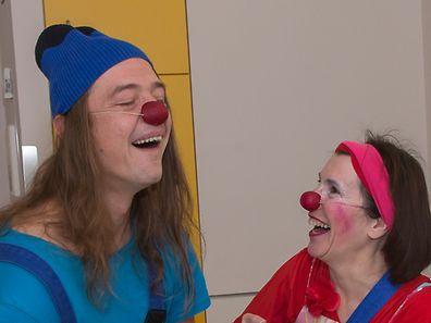 """Mit Horror-Clowns haben die """"Ile aux Clowns""""-Clowns nichts gemeinsam."""