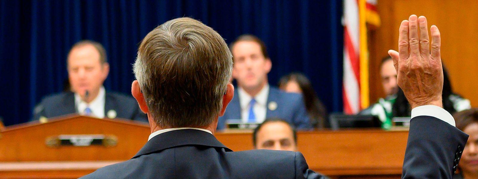 Vor dem Geheimdienstausschuss des Repräsentantenhauses wurde am Donnerstag der geschäftsführende US-Geheimdienstkoordinator Joseph Maguire gehört.