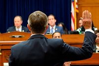 Acting Director of National Intelligence Joseph Maguire testifies before a hearing of the House Permanent Select Committee on Intelligence on September 26, 2019, in Washington, DC. - Maguire is testifying on the whistleblower complaint, regarding communication between US President Donald Trump and Ukrainian President Volodymyr Zelensky. (Photo by ANDREW CABALLERO-REYNOLDS / AFP)