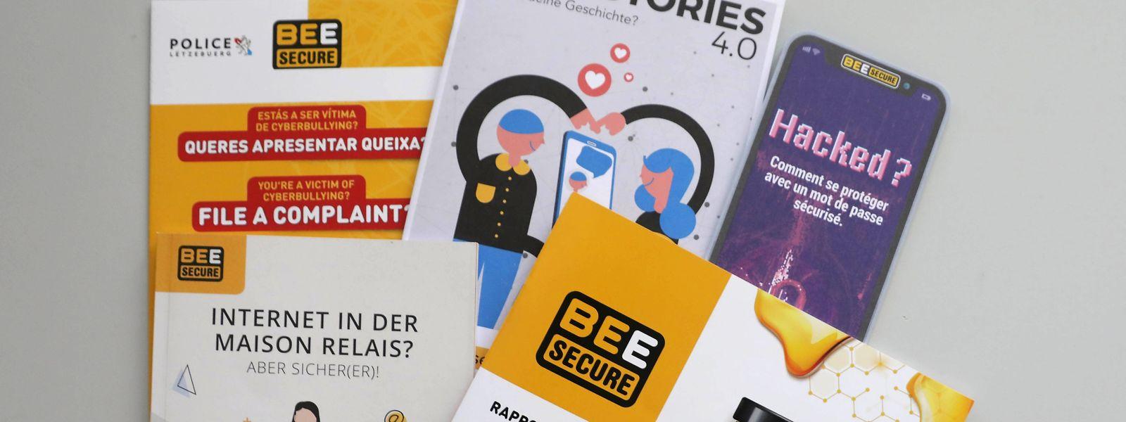 Zum Anfang des Jahres wurden viele neue Broschüren von Bee Secure, in Zusammenarbeit mit unterschiedlichen Partnern, vorgestellt, die den sicheren Umgang mit dem Internet lehren sollen.