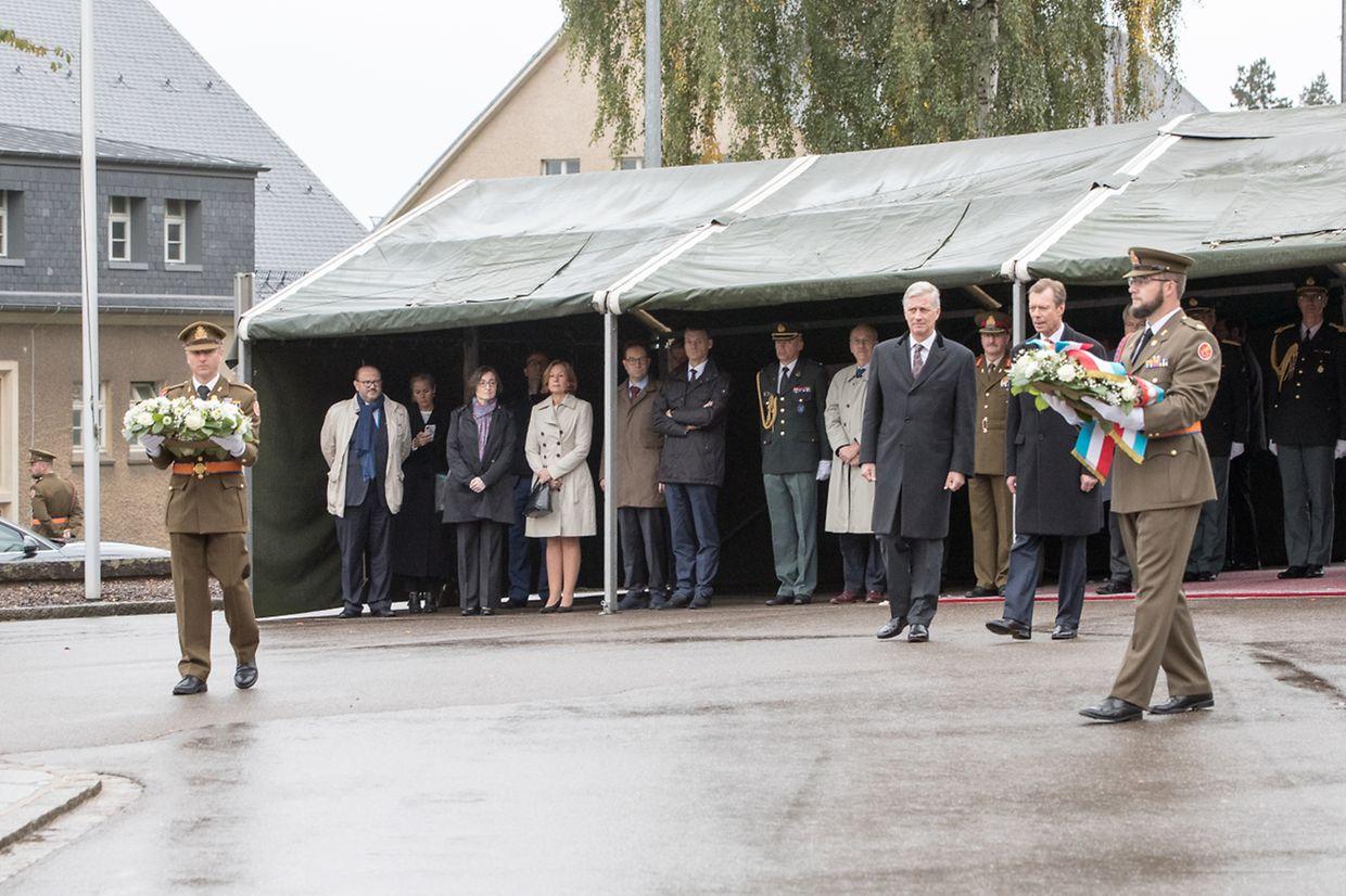 Visite du centre militaire de Diekirch.