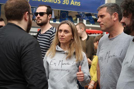 Christine Tribolet, présidente du principal comité d'«En Marche Luxembourg»: «Avant le premier tour de la présidentielle, nous étions 120 adhérents. Maintenant nous sommes déjà 212».
