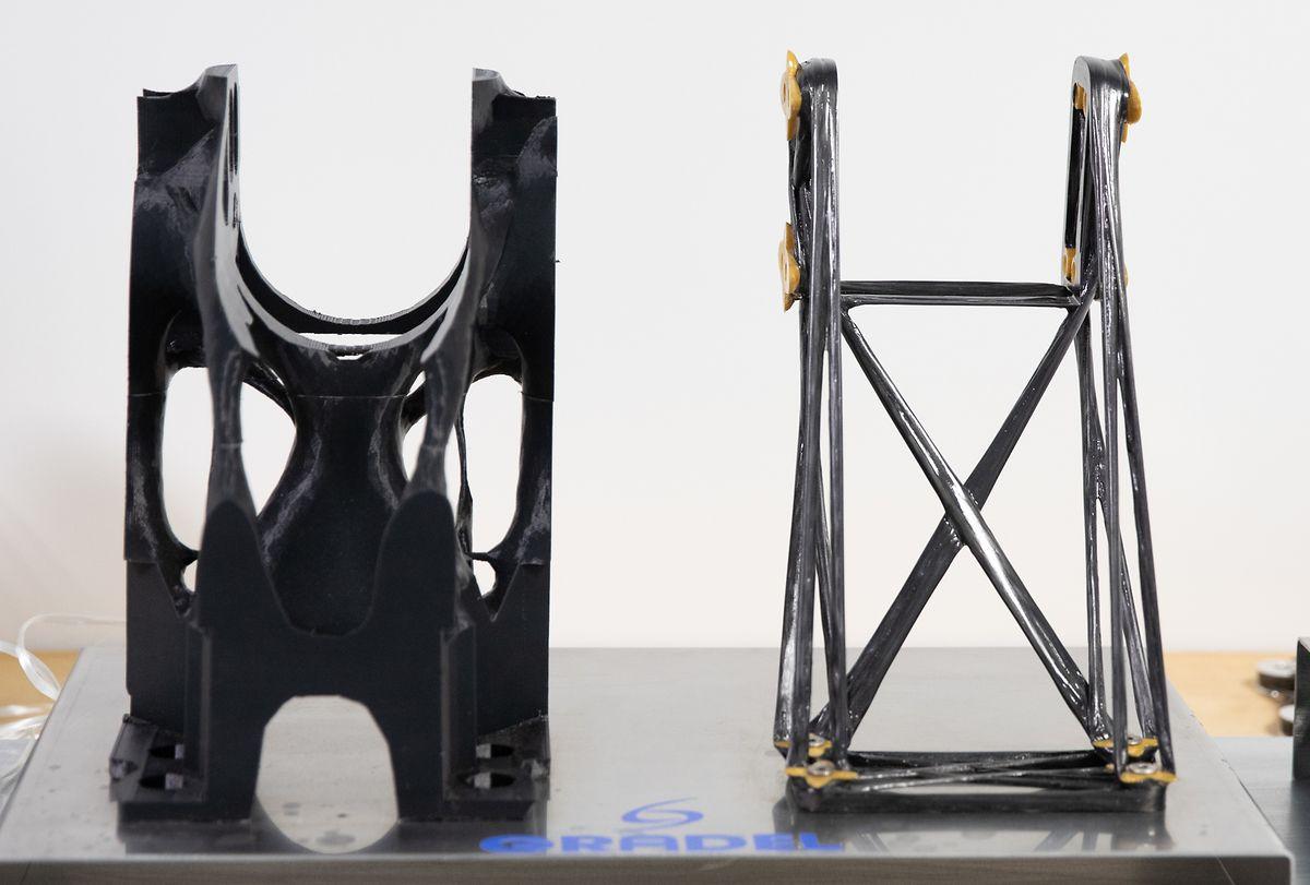 Mit dem neuen Verfahren wird nur dort Material verwendet, wo es auch unbedingt benötigt wird.