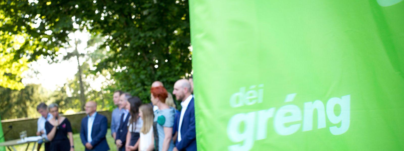 """Vorstellung der Kandidaten von """"Déi Gréng""""."""