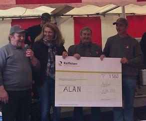 1500 Euro an ALAN überreicht