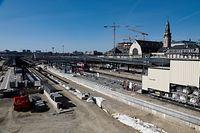 Lokales, chantier, Bauarbeiten Bahnhof, Zug, Züge Foto: Luxemburger Wort/Anouk Antony