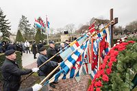Lok , Hinzerter Kreiz , Croix de Hinzert , Glacis Kapell , Nationalen Dag vun der Resistenz , Journee Nationale de la Resistance , Foto:Guy Jallay/Luxemburger Wort