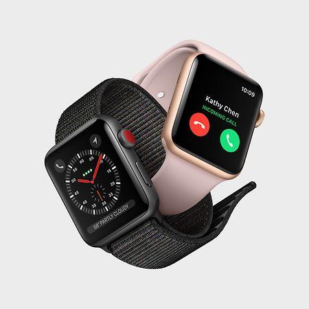 O Apple Watch 4 terá um ecrã ligeiramente maior do que o modelo anterior, na foto.