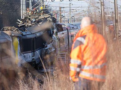 Zugunglück Dudelange,Foto:Gerry Huberty