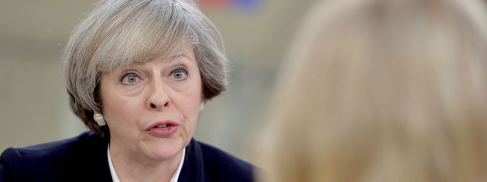 A atual primeira-ministra britânica Theresa May