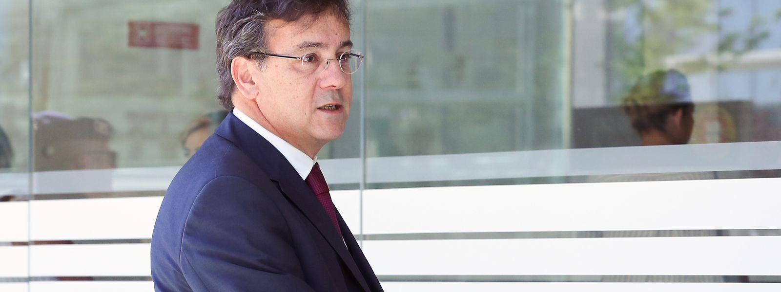 Miguel Matias, advogado dos arguidos do caso da invasão a Alcochete à chegada para o início da fase de instrução do processo do ataque à Academia do Sporting, em Alcochete, no Campus da Justiça, no Parque das Nações, em Lisboa.