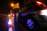 22.02.09 Alkohol-Kontrolle, alkoholkontrolle polizeiliche, polizei, 21.00 bis 22.00 Uhr, gegend diekirch, photo: Marc Wilwert