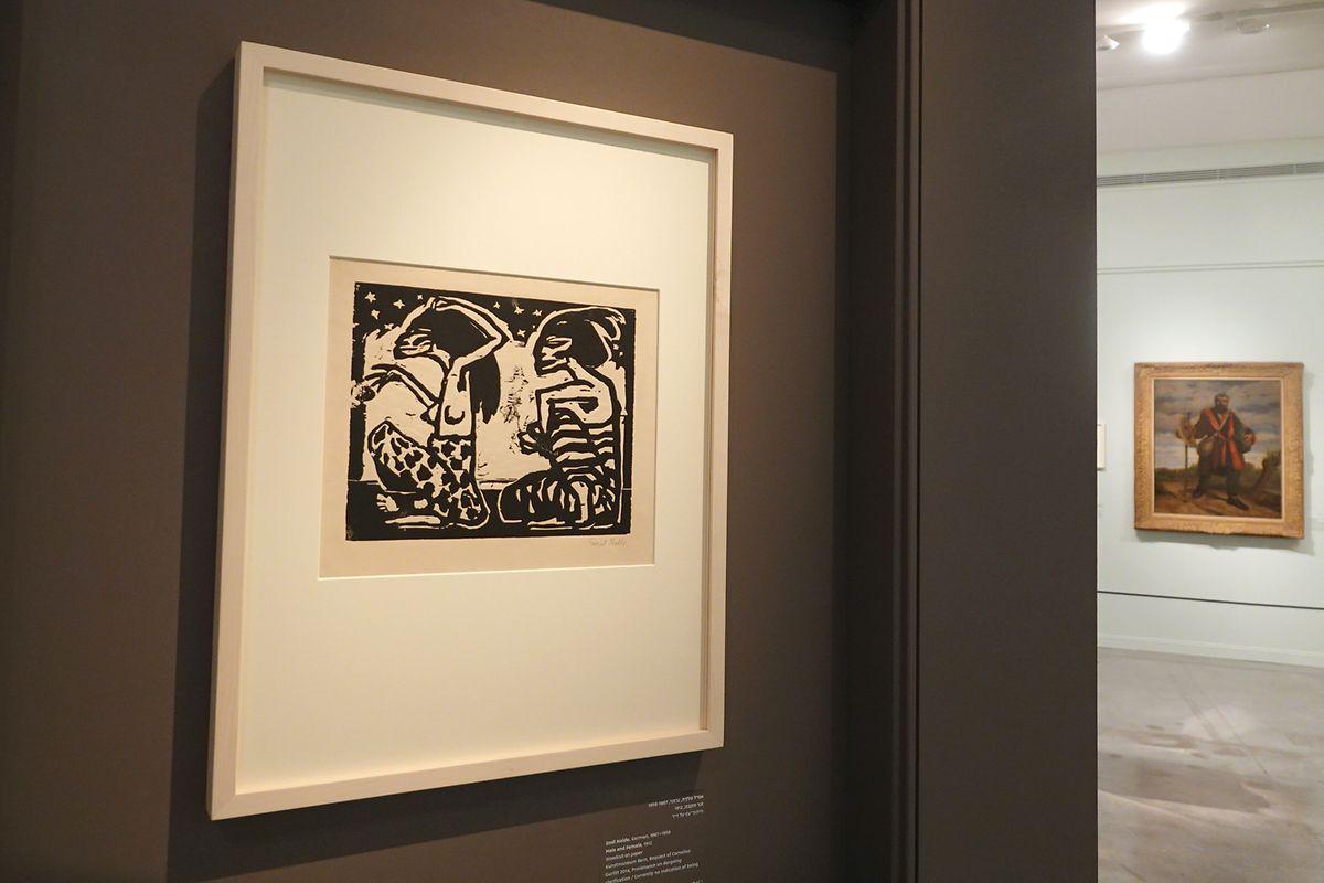 """Im Vordergrund: """"Mann und Weibchen"""" von Emil Nolde. Noldes Kunst wurde trotz Nazi-Sympathien und langjähriger Mitgliedschaft bei der NSDAP als entartete Kunst eingestuft."""