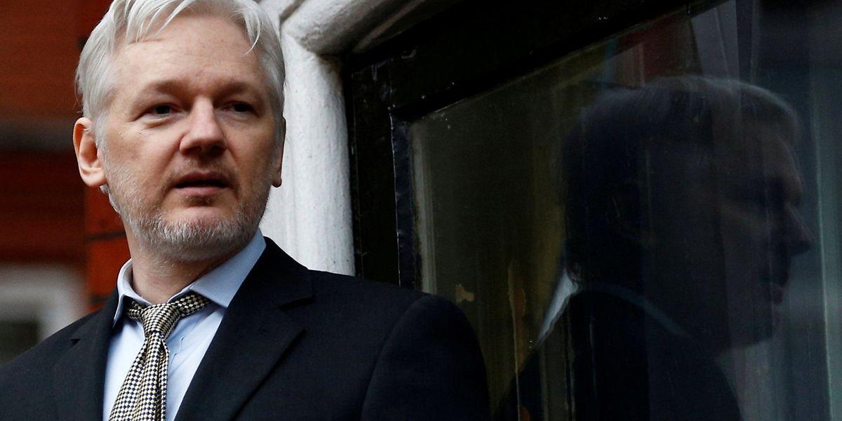 WikiLeaks-Gründer Julian Assange bei einer Ansprache auf dem Balkon der Botschaft von Ecuador in London.