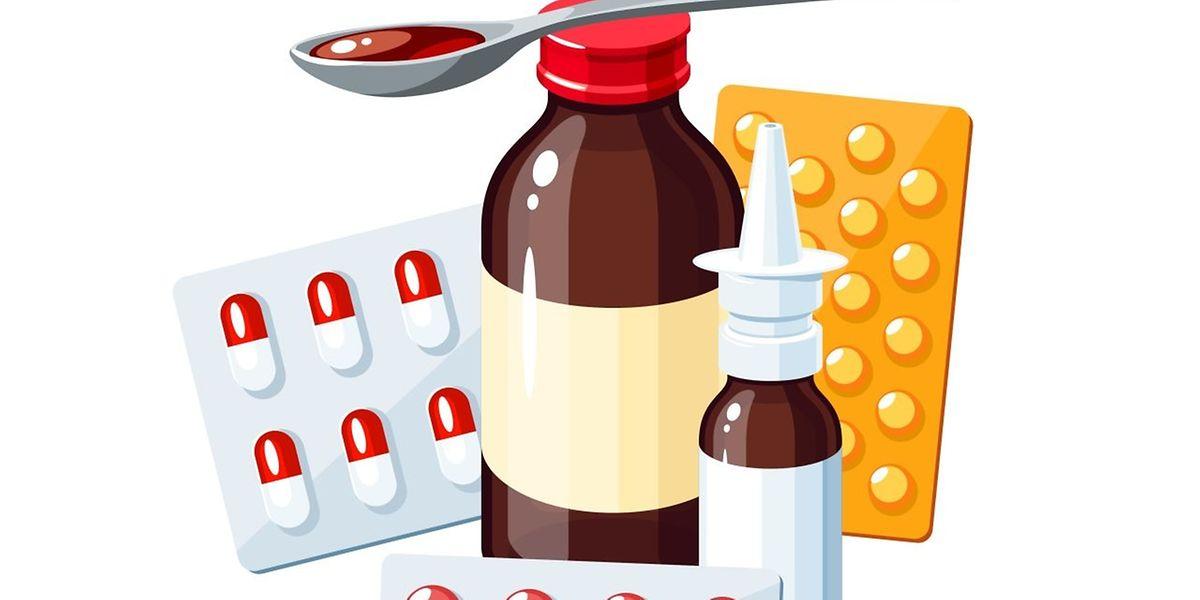 Einige Medikamente können die Symptome einer Grippe lindern.