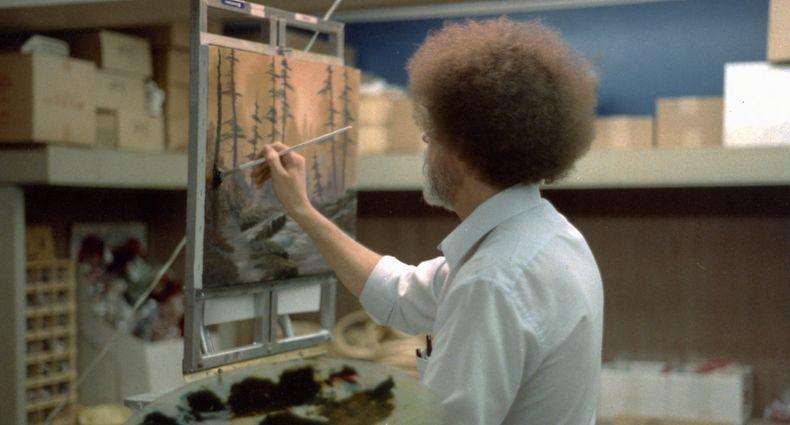 Ein kleiner Baum hier, eine Wolke da: Mit seiner unnachahmlichen Art prägte Bob Ross die Fernsehlandschaft.