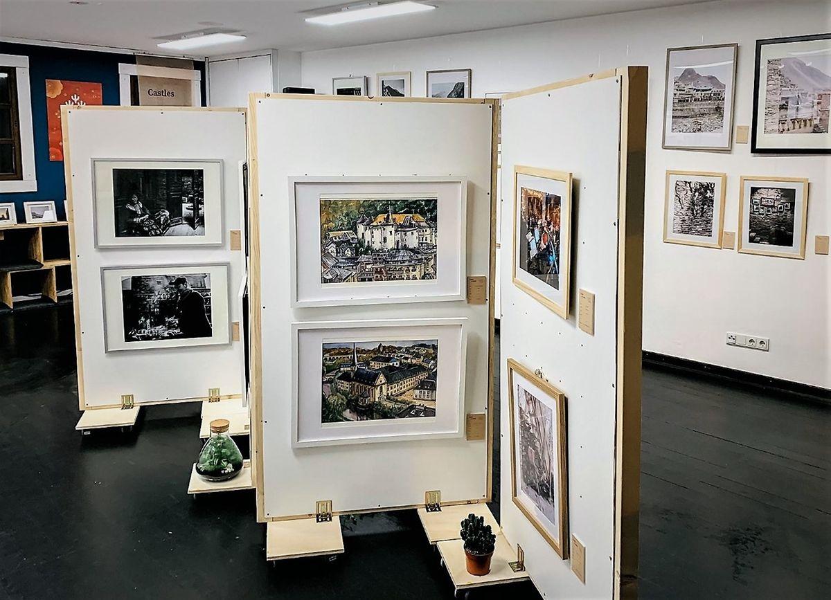 An art exhibition at Am Gronn