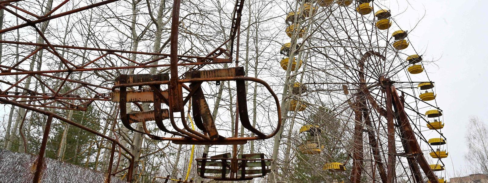 Der verlassene Freizeitpark der Geisterstadt Prypjat.