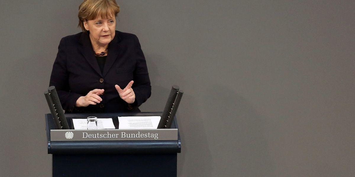 La chancelière allemande Angela Merkel s'est adressée mercredi au Bundestag avant le rassemblement du Conseil européen de jeudi.