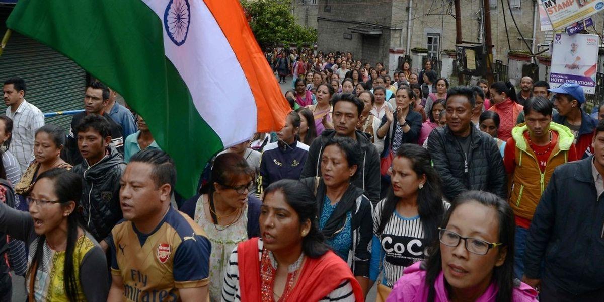 Die indischen Bauern fordern eine Erhöhung der Gemüsepreise.