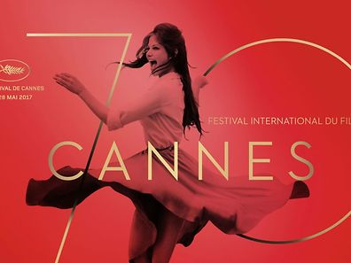 """This handout picture released on March 29, 2017 by the Cannes film festival shows the official poster of the 70th Festival de Cannes featuring a picture of Italian actress Claudia Cardinale dancing. The festical will be held from May 17 to 28, 2017 with Spanish director Pedro Almodovar as the President of the Jury. / AFP PHOTO / Bronx agency AND Archivio Cameraphoto Epoche/Getty Images / Philippe Savoir / RESTRICTED TO EDITORIAL USE - MANDATORY CREDIT """"AFP PHOTO / Bronx agency /  Archivio Cameraphoto Epoche / Getty Images / Philippe Savoir """" - NO MARKETING NO ADVERTISING CAMPAIGNS - DISTRIBUTED AS A SERVICE TO CLIENTS"""
