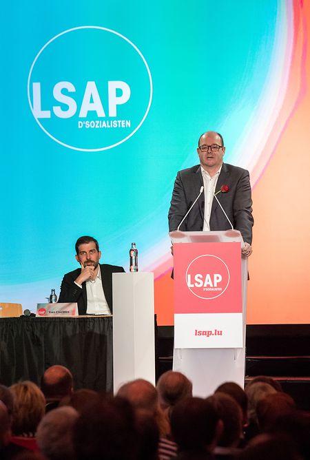 Parteichef Claude Haagen und Generalsekretär Yves Cruchten sind zuversichtlich, dass die LSAP gestärkt aus den Wahlen hervorgeht.