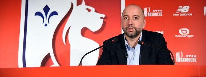 Gerard Lopez s'est montré plus réservé au moment d'évoquer les ambitions de Lille en 2018-2019.
