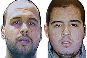 "(COMBO) This combination of handout pictures obtained via Interpol on March 23, 2016 shows Khalid (L) and Ibrahim (R) El Bakraoui, the two Belgian brothers identified as the suicide bombers who struck Brussels on March 22, 2016, as a manhunt for a third assailant in Belgium's bloodiest terror assault gained pace.  Two suicide blasts hit Brussels' Zaventem airport on March 22, 2016 morning followed soon after by a third on a train at Maalbeek station, close to the European Union's institutions, just as rush-hour commuters were heading to work. The triple blasts that killed some 30 people and left around 250 injured was claimed by the Islamic State jihadist group. / AFP PHOTO / Interpol / - / RESTRICTED TO EDITORIAL USE - MANDATORY CREDIT ""AFP PHOTO / INTERPOL- NO MARKETING NO ADVERTISING CAMPAIGNS - DISTRIBUTED AS A SERVICE TO CLIENTS"
