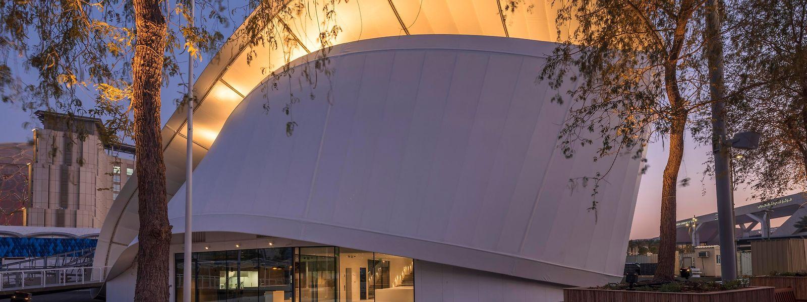 Chaque jour, plus d'une trentaine de personnels assureront la représentation du Luxembourg au cœur du pavillon signé du cabinet d'architectes Metaform.