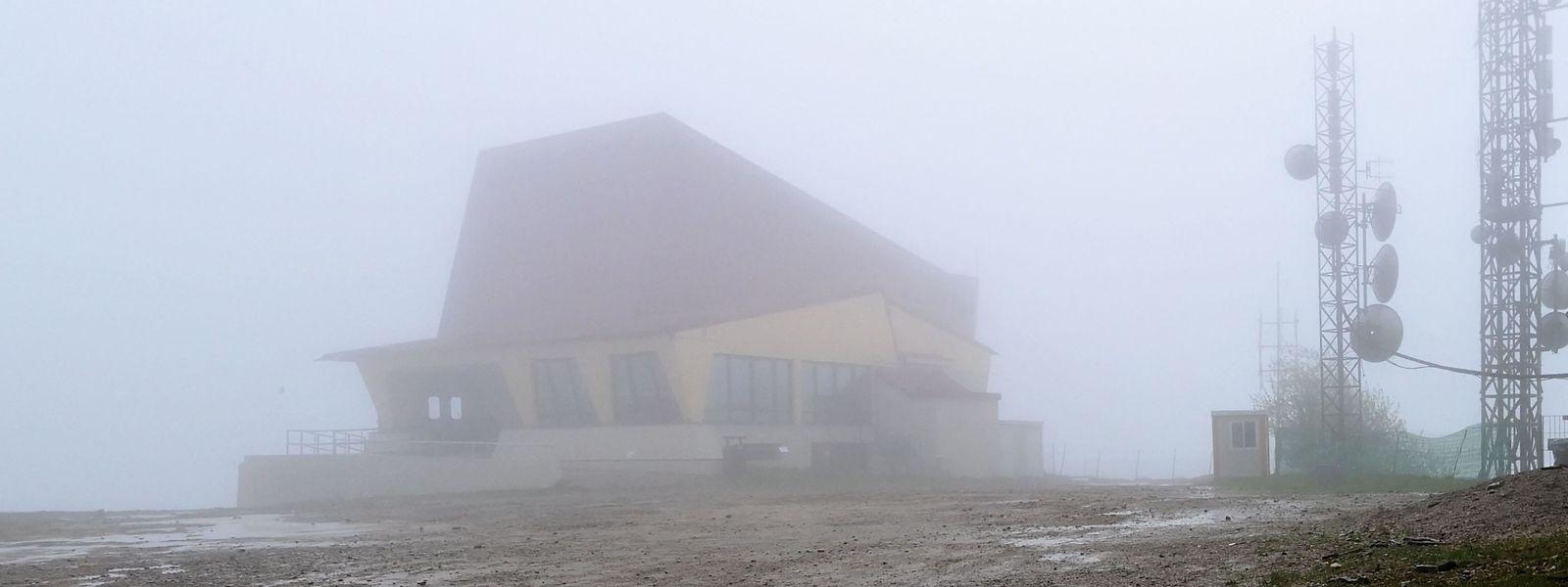 Die Bergstation der Seilbahn auf dem Monte Mottarone.