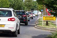 28.7. Bascharage / Verkehrsaufkommen, Stau / Contournement Foto.Guy Jallay