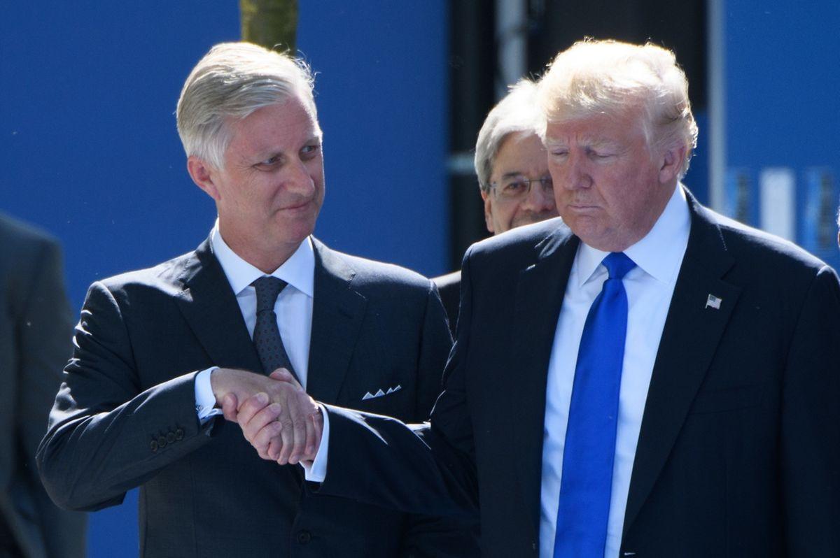 Selbst dem belgischen König scheint Donald Trump wenig Beachtung zu schenken.
