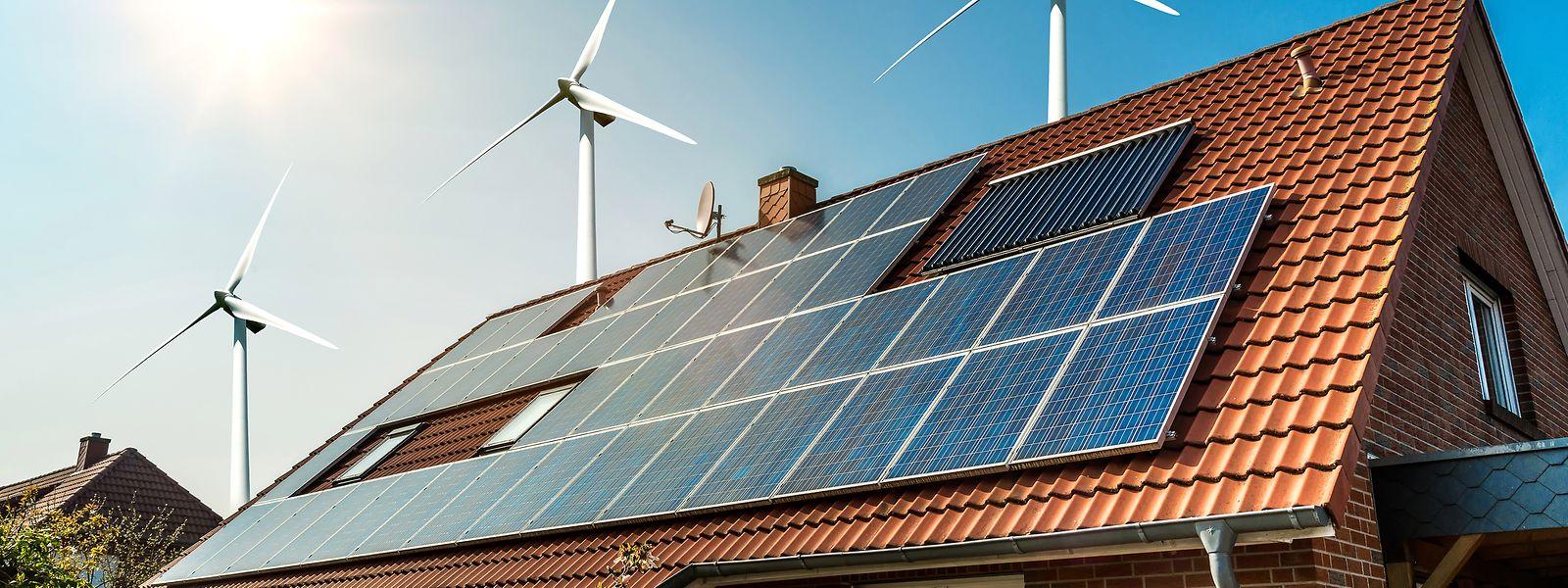 La part d'éolien et de photovoltaïque stagne depuis une année au Luxembourg.