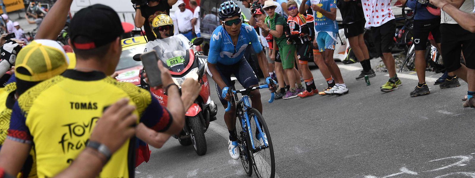 Nairo Quintana a placé son attaque décisive à un peu plus de 7 km du sommet du Galibier.