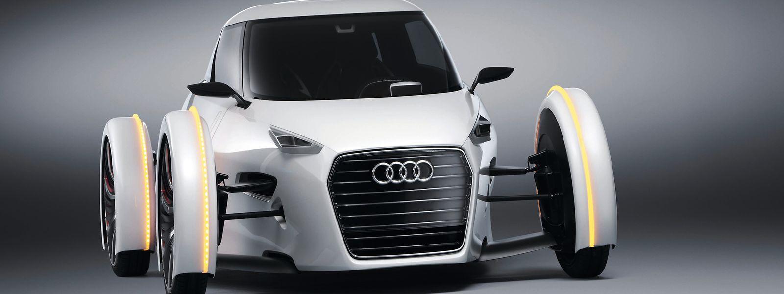 Schaut diese futuristische zweisitzige Audi-Studie (Urban Concept) von 2011 mit ihren Kotflügeln nicht auch ein wenig nostalgisch aus?