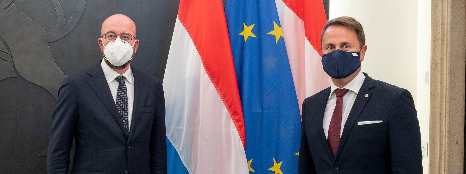 Après Rome et Bruxelles au début du mois, Charles Michel était présent ce jeudi à Luxembourg-Ville en amont du prochain Conseil européen.
