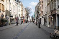 Luxemburg-Stadt , Coronavirus , Sars-CoV-2 , Covid-19 , verwaiste Stadt wegen etat de crise , Groussgass Foto:Guy Jallay/Luxemburger Wort