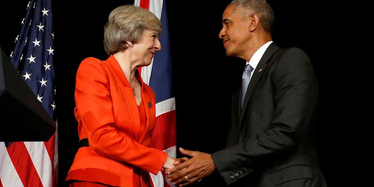 Im September war May auf dem G20-Gipfel Barack Obama begegnet.