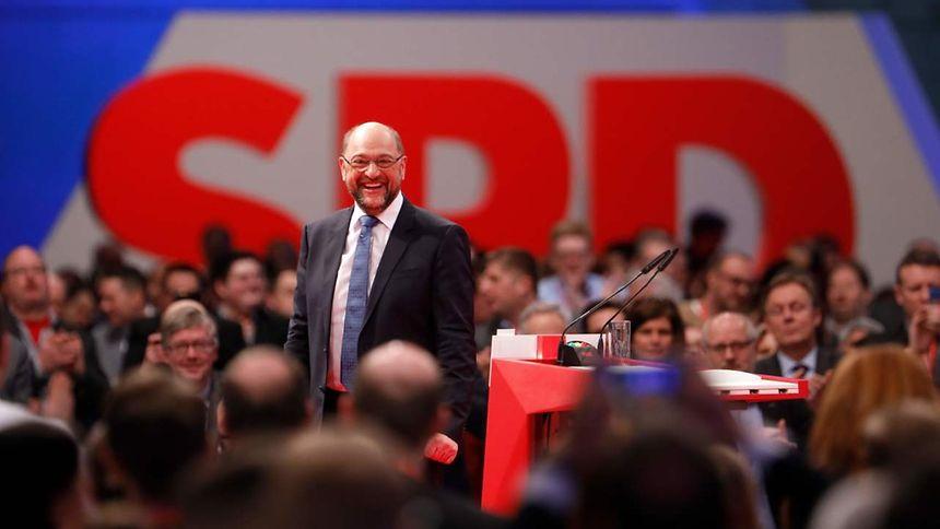 Martin Schulz wurde als Parteichef bestätigt.